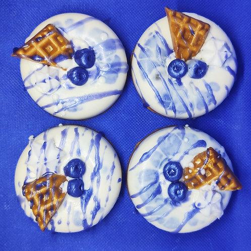 Blueberry Waffle Donut