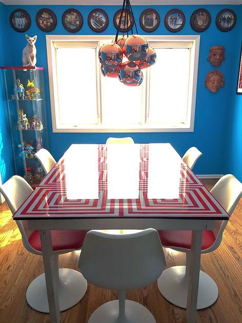 mid century modern dining room