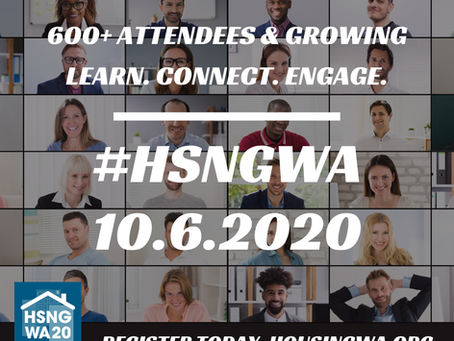 600+ Registered Attendees & Counting. Will You Be at Housing WA 2020?