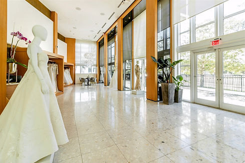 View inside Chernaya Bridal House