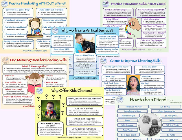 Poster - Kids Master Skills Information