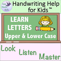 Square Cover - LEARN LETTERS Upper and L