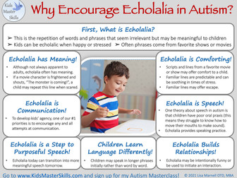 Encourage Echolalia in Autism