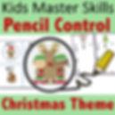Square Cover - Pencil Control - Christma