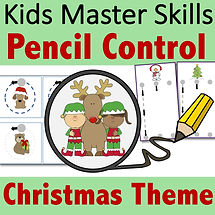 Square Cover - Pencil Control - Christma