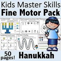 Square Cover - Fine Motor Pack - Hanukka