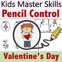 Square Cover - Pencil Control - Valentin
