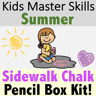Square Cover - Summer Sidewalk Chalk Fin
