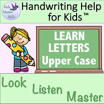 Square Cover - LEARN LETTERS Upper Case.