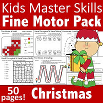 Square Cover - Fine Motor Pack - Christm