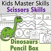 SquareCover - Scissors Skills - Dinosaur