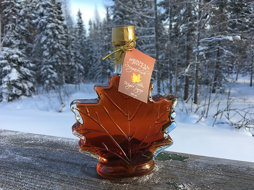 250 mL Glass Maple Leaf