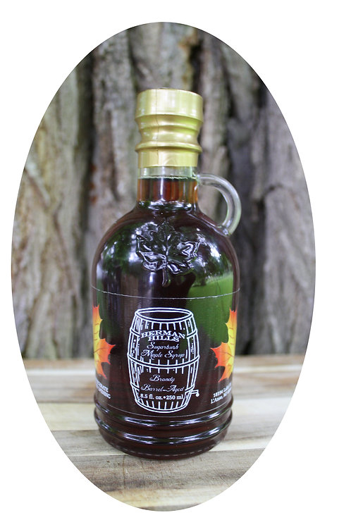 Brandy Barrel Aged Maple Syrup 8.5 Fluid Ounces