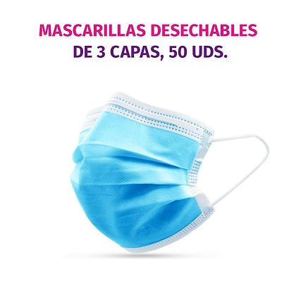 3-CAPAS MASCARILLAS, 50 UDS.