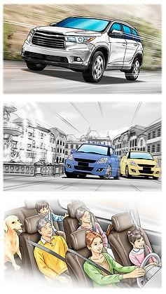 カラーマーカー  絵コンテ