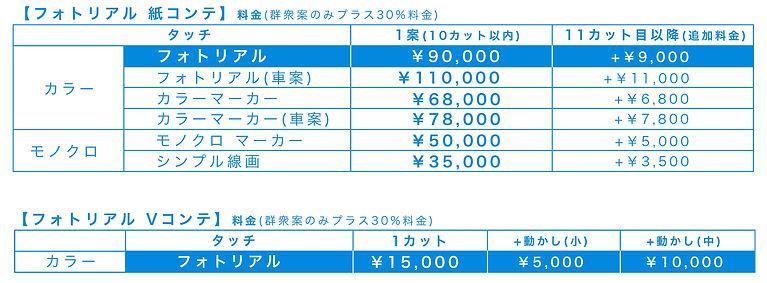 コンテ料金表