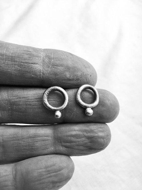 Tiny circle post earring