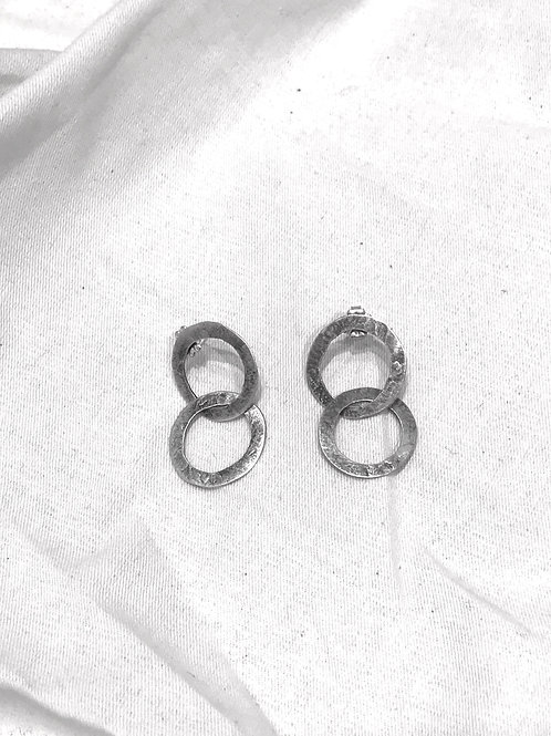 Large washer link earrings