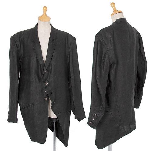 Yohji Yamamoto Asymmetric Linen Jacket