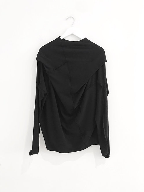Asymmetric Cut Long Sleeve Top