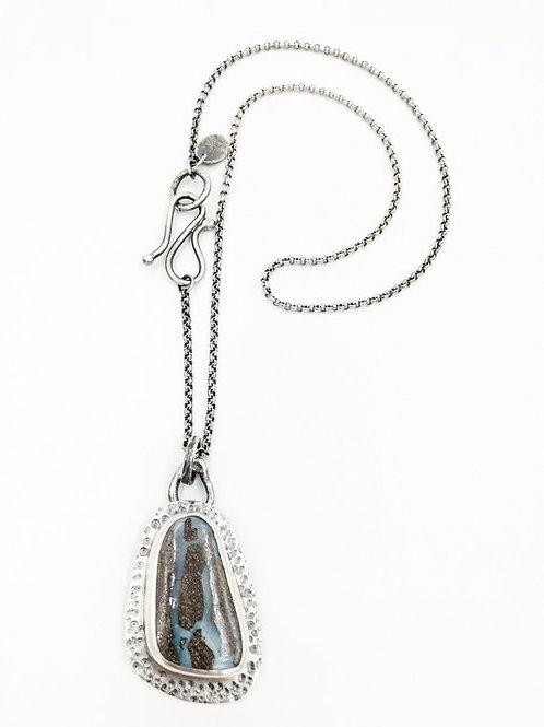 Boulder Opal pendant on chain
