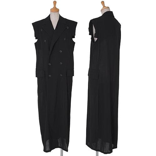 Y's Sleeveless  Double Long Jacket