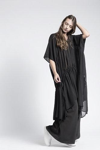 Loose sheer tunic dress