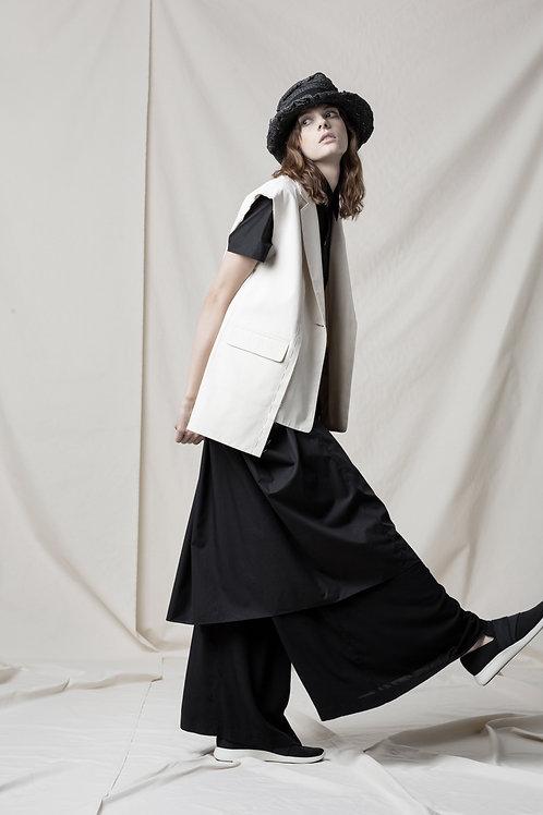 Asymmetric cotton vest