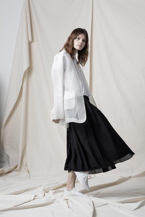 Silk raw frill jacket