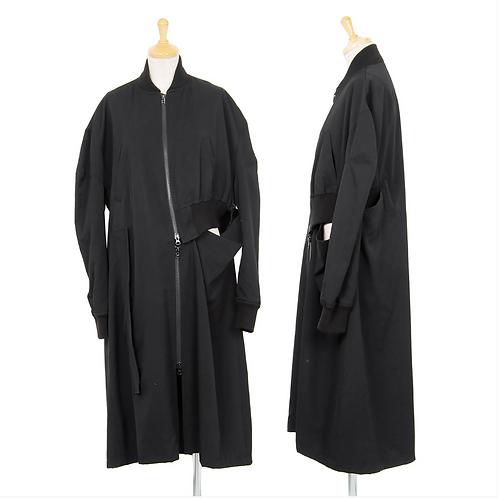 B Yohji Yamamoto Asymmetric Gabardine Zip Jacket