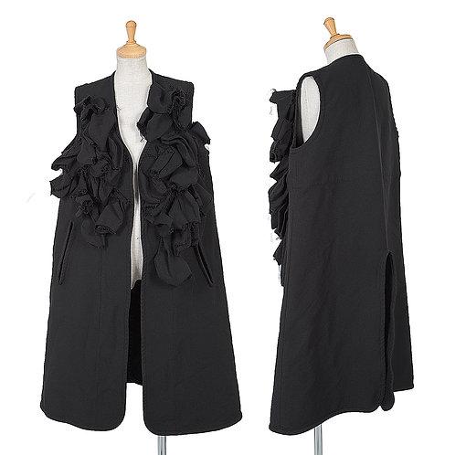 COMME des GARCONS Motif Frilled Sleeveless Jacket