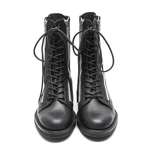 Yohji Yamamoto Leather Double Zip Boots