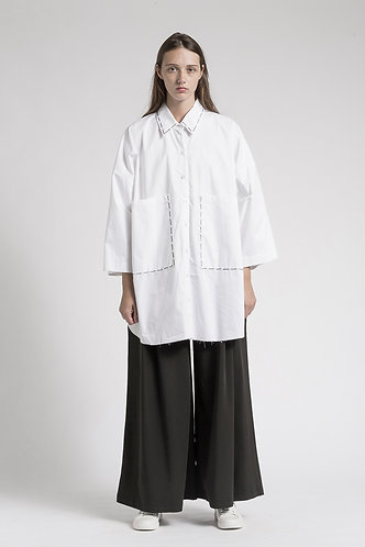 Loose shirt with big pocket