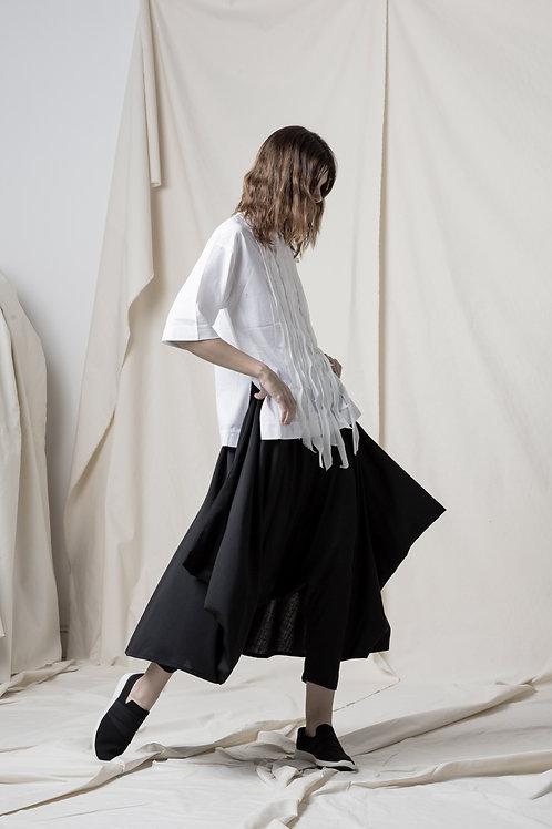 Light wool skirt trousers