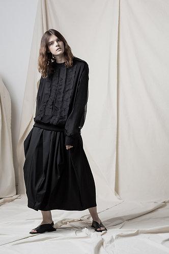 Silk trim jersey top