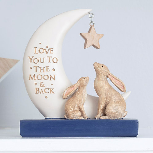 Love you to the Moon and Back Resin Decorative Sign