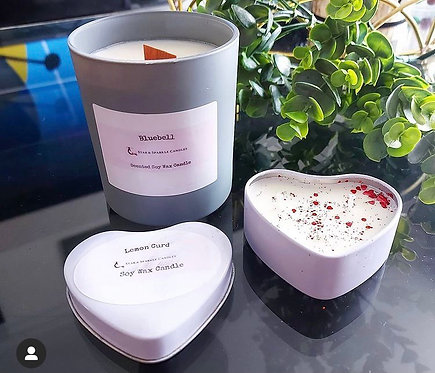 White Valentines Candle Tin