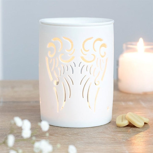 White Angel Wings Cut Out Oil Burner