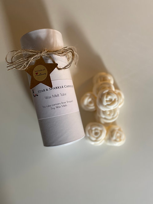 Rose Shaped Scented Soy Wax Melts Tube