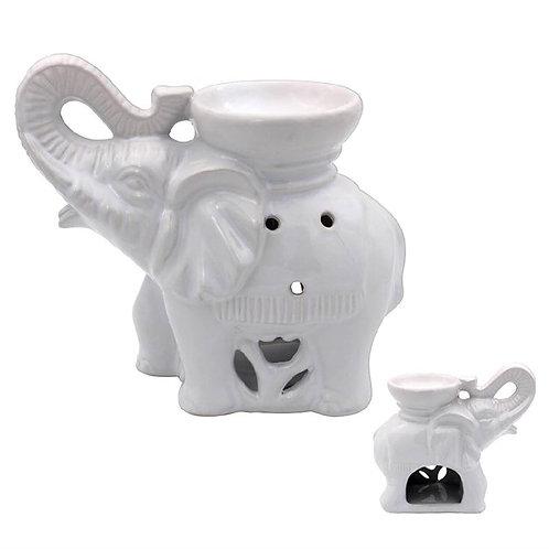 White Elephant Ceramic Glazed Wax Melter