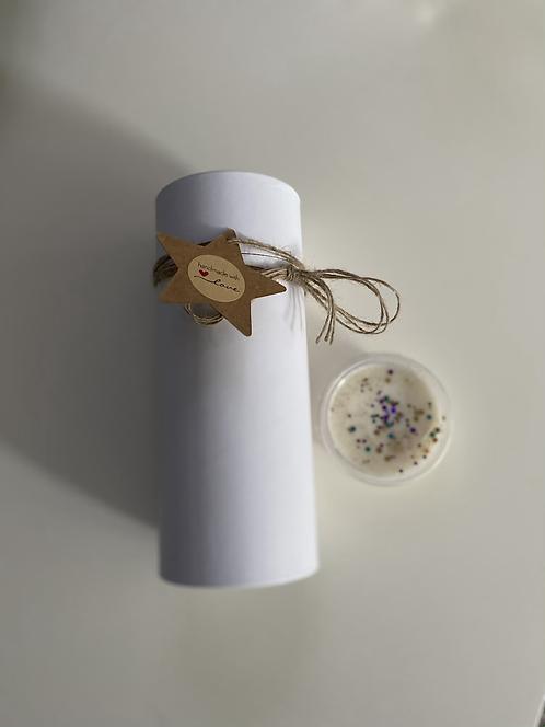 Glitter Soy Wax Deli Pot Melts Gift Tube