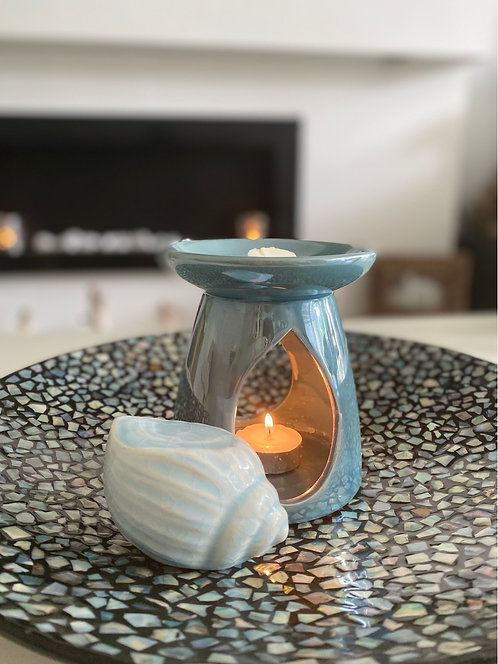 Turquoise Pearlised Oil Burner