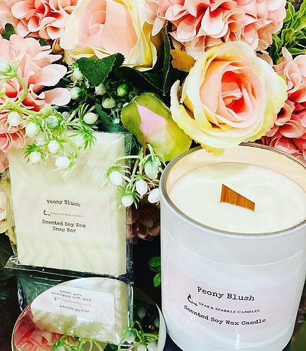 Peony Blush Rose Gold Soy Wax Candle