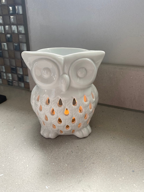 Ceramic White Owl Burner