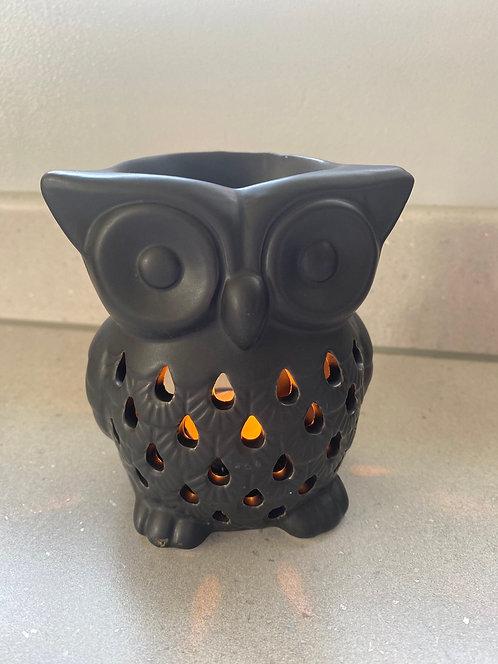 Ceramic Black Owl Burner