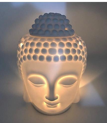 Buddha Ceramic White Oil Burner
