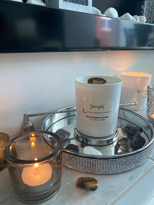 Strength Crystal Candle