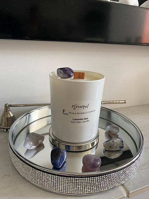 Tranquil Crystal Candle