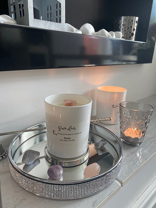 Pure Love Crystal Candle