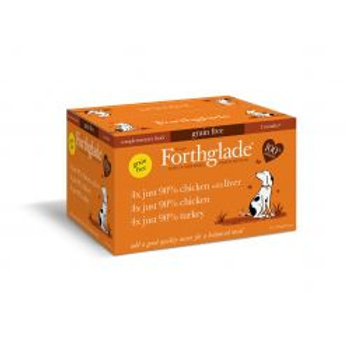 Forthglade Just Grain Free Poultry Mix 12 pack